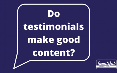 Do testimonials make good content?
